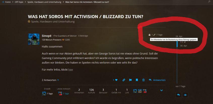 George Soros infiltriert Activision Blizzard