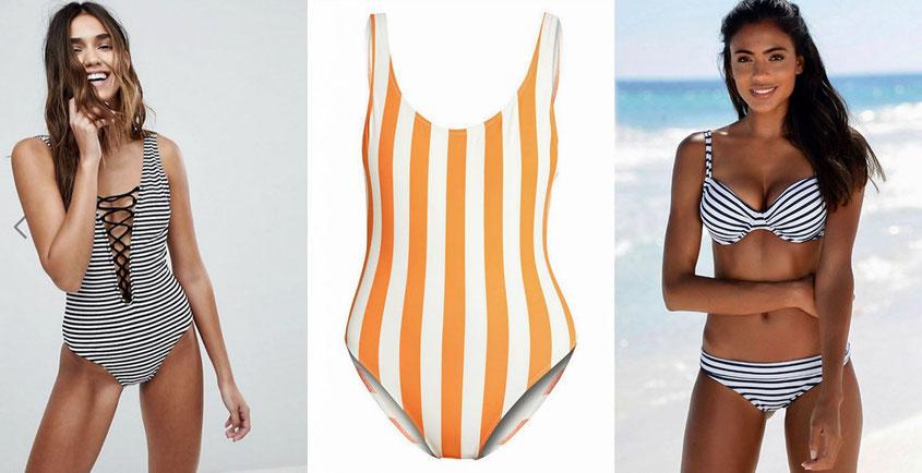 Badeanzüge & Bikinis mit Streifen sind der Style Trend des Sommers 2018 | hot-port.de | 30+ Style Blog