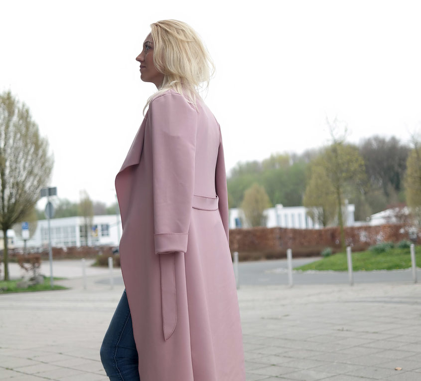 Outfit Scuba Waterfall Coat | Wasserfall Mantel von Pretty Little Thing | hot-port.de | 30+ Style Blog