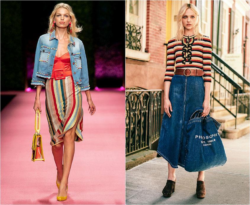 Was sind die Frühlingstrends 2019: Ganz oben auf der Hitliste aller Fashionjunkies stehen in diesem Frühling ganz klar hippe Streifen & cooler Denim | Warum wir nicht genug von diesen freshen Fashion Trends bekommen können | www.hot-port.de | Hot Port Life & Style Blog #frühlingstrends #outfits #streifen
