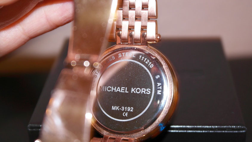 Michael Kors Darci stainless steel waterproof 5 atm