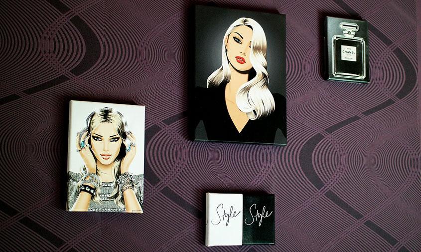 Bilderwand einmal selbst gestalten | Jason Brooks Style auf Leinwand mit Tesa Klebehaken angebracht | hot-port.de | Lifestyle Blog