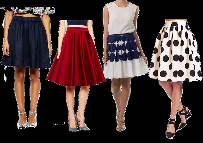Sommer Trend 2014 | weit ausgestellte Röcke | Glockenrock | Tellerrock | Faltenrock