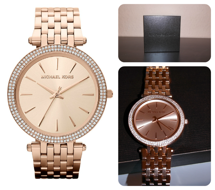 Michael Kors Darci rose golden watch