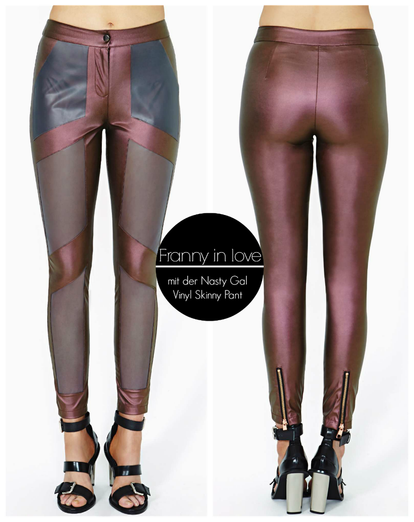 Franny in Love mit der Nasty Gal Vinyl Skinny Pant Leggings | Hot Port Life & Style | 30+ Style Blog