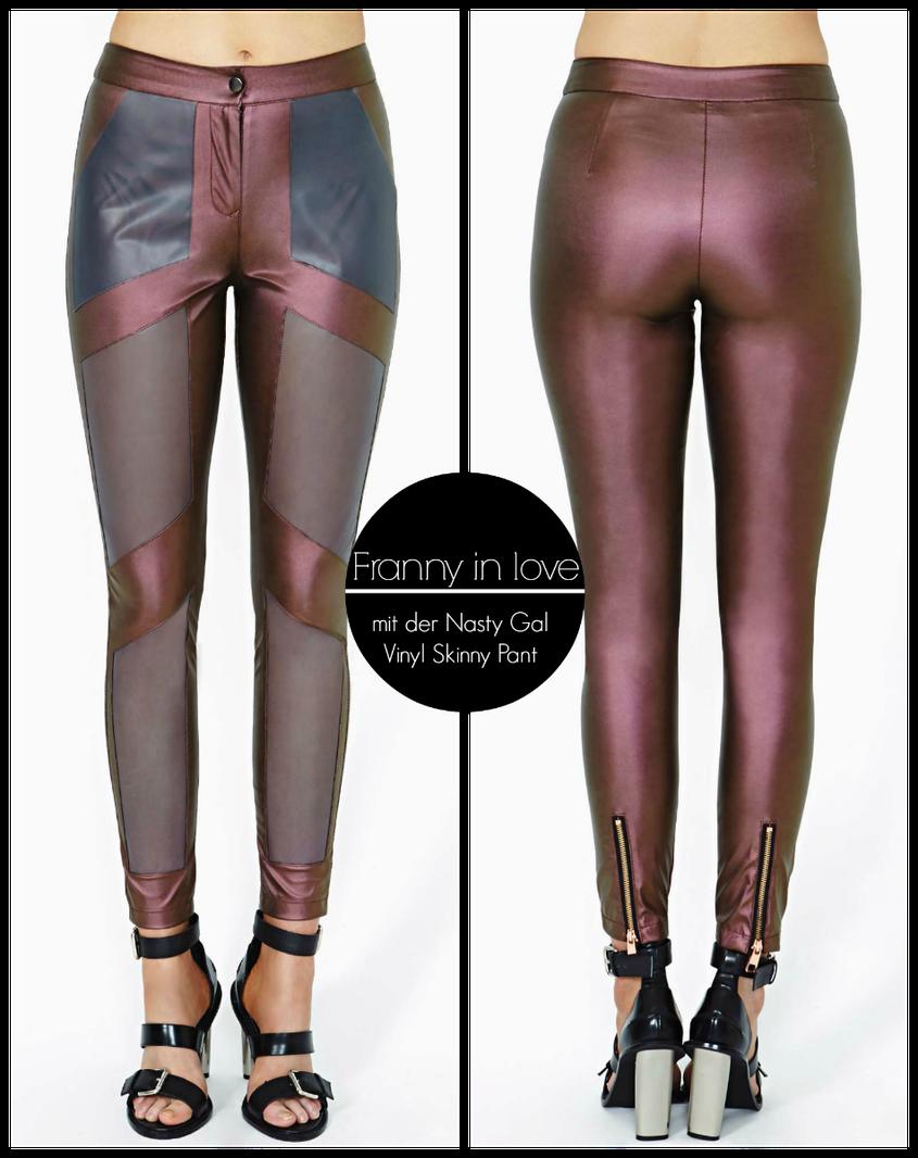 Franny in love | Mit der Nasty Gal Vinyl Skinny Pant Leggings
