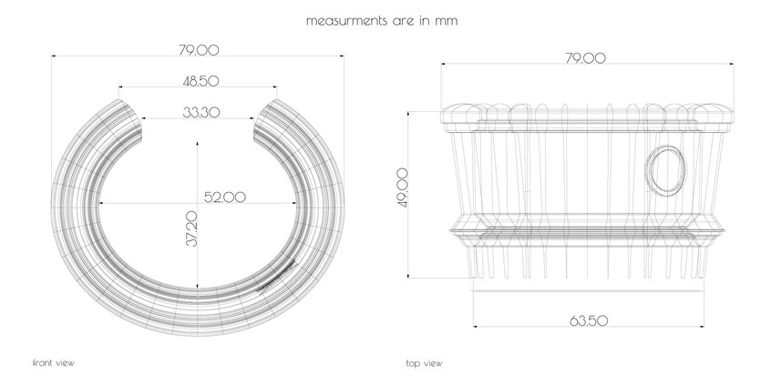MyCity Tehran wide bracelet measurements small size