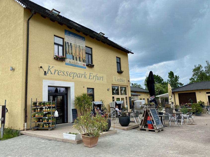 Ein echtes Landvergnügen in der Stadt. Kressepark Erfurt mit Stellplätzen am Fisch-Hofladen