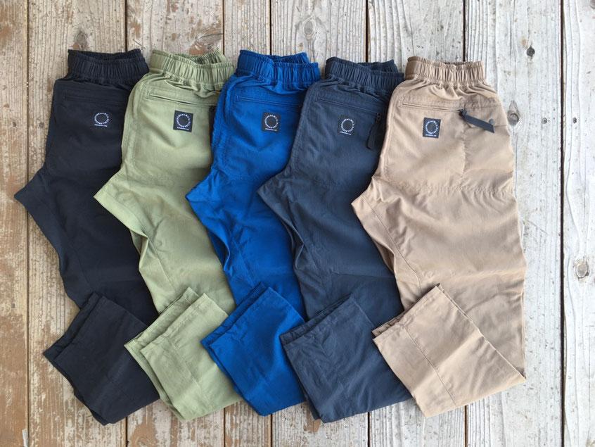 山と道(ヤマトミチ) 5-Pockets Pants 各¥16,740(税込)
