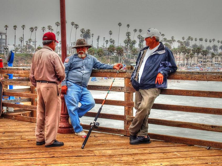 Oceanside Pier, unter Anglern beliebt...