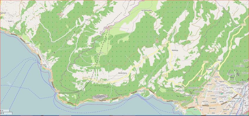 Karte Niederhorn Trottiplausch