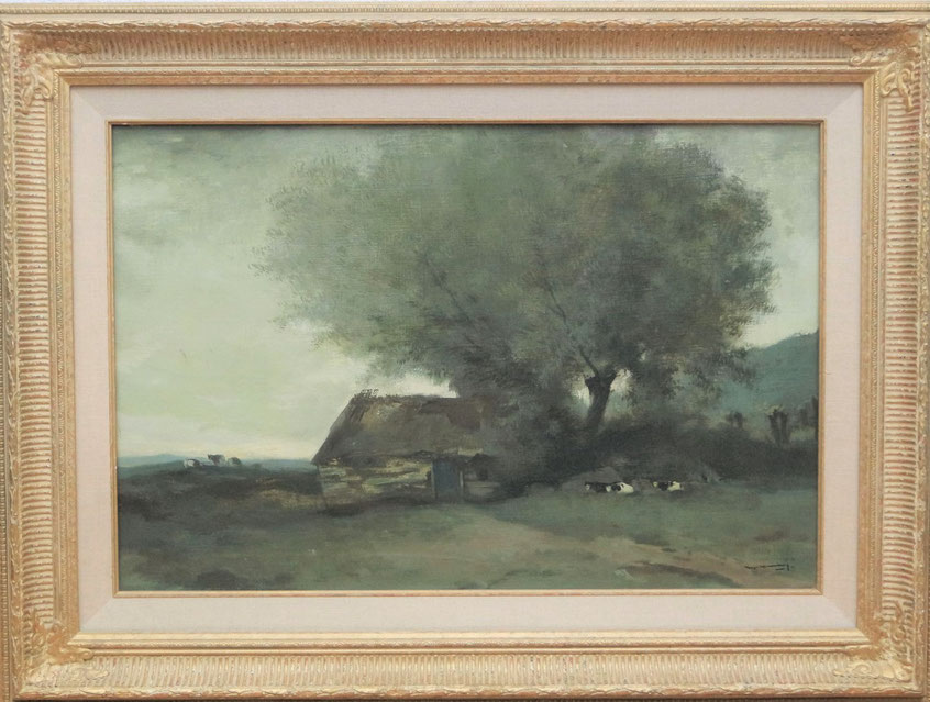 te_koop_aangeboden_een_landschaps_schilderij_van_de_friese_kunstschilder_ype_wenning_1879-1959