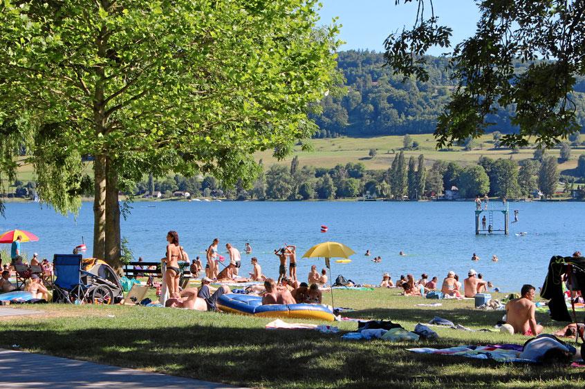 Strandbad mit Liegewiese und Restaurant in Öhningen am Bodensee