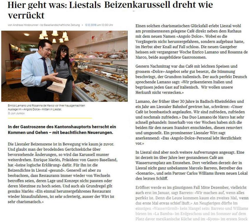 Basellandschaftliche Zeitung Liesltal 5.12.2018