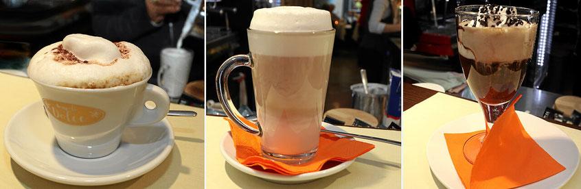 Angolo dolce in der Schweiz. Mit mit vielen italienischen Kaffeespezialitäten.