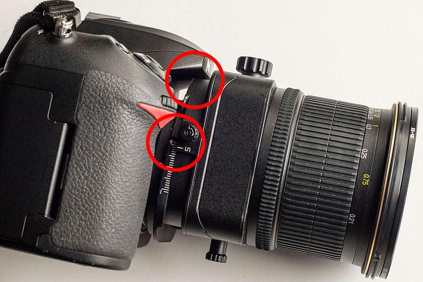 Limitierter Shiftweg bei NIKON Shift/Tilt Objektiven an APS-C Kameras. Copyright 2020 by bonnescape.