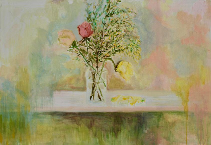 Atelier 1, 2018 Acryl auf Leinwand 90x130