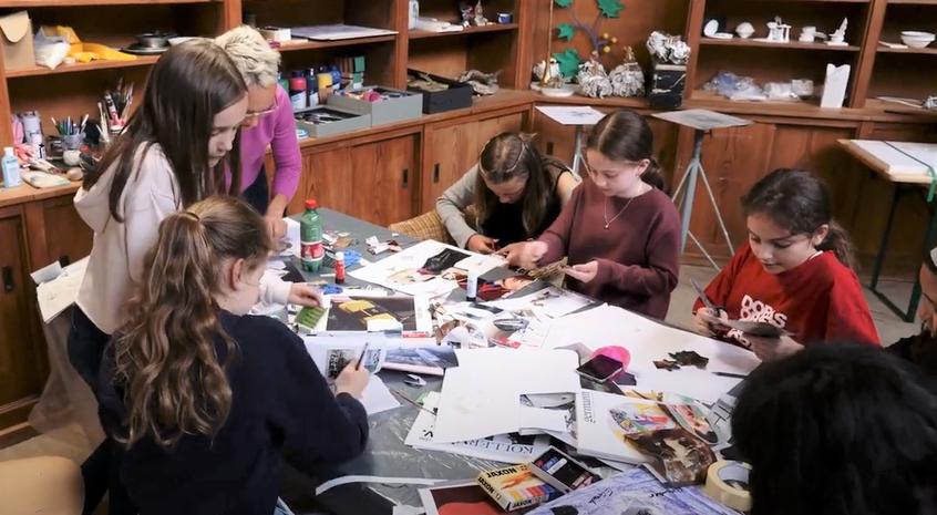 Collagen machen im Atelier für Kunst Luzern