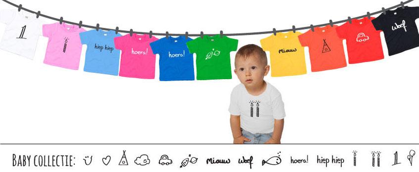 Baby en kinder T-shirts bedrukt