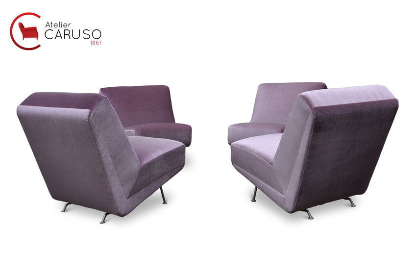 artifort theo ruth sectional sofa chairs in mohair