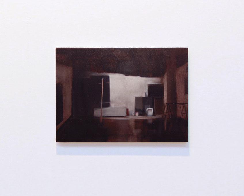 the beginning (El Gran Estudio). Oil on canvas. 33 x 46 cm. 2012