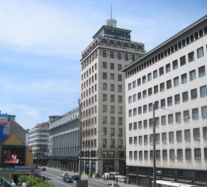 Ljubljana Tipps Nebotičnik Hochhaus