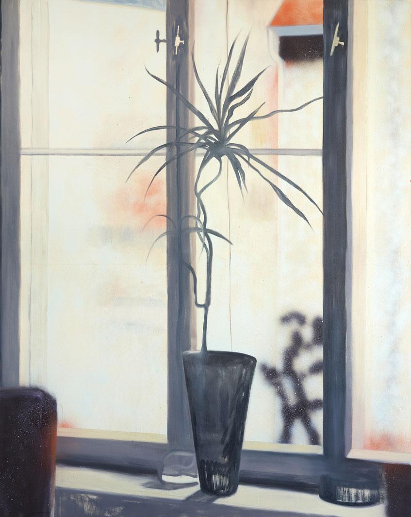 »ich, zuhause« 160 x 130 cm, Öl, Lack und Acryl auf Baumwolle