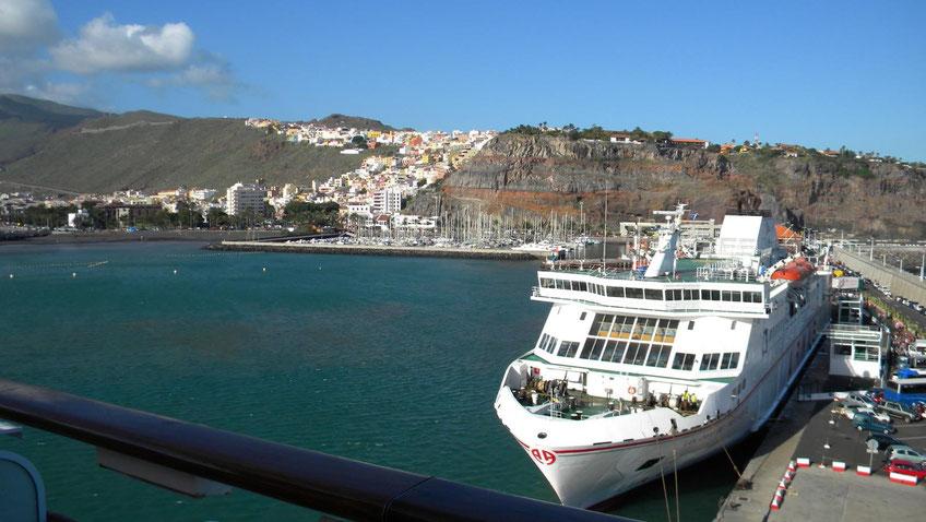 Terminal für Kreuzfahrtschiffe auf La Gomera