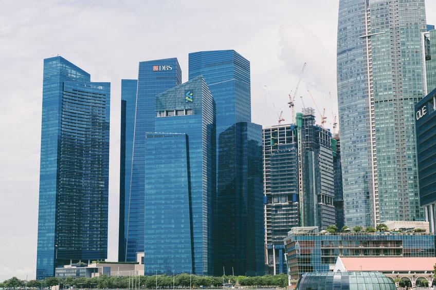 シンガポールのビル群。同国ではBIMの活用が非常に盛んだ。