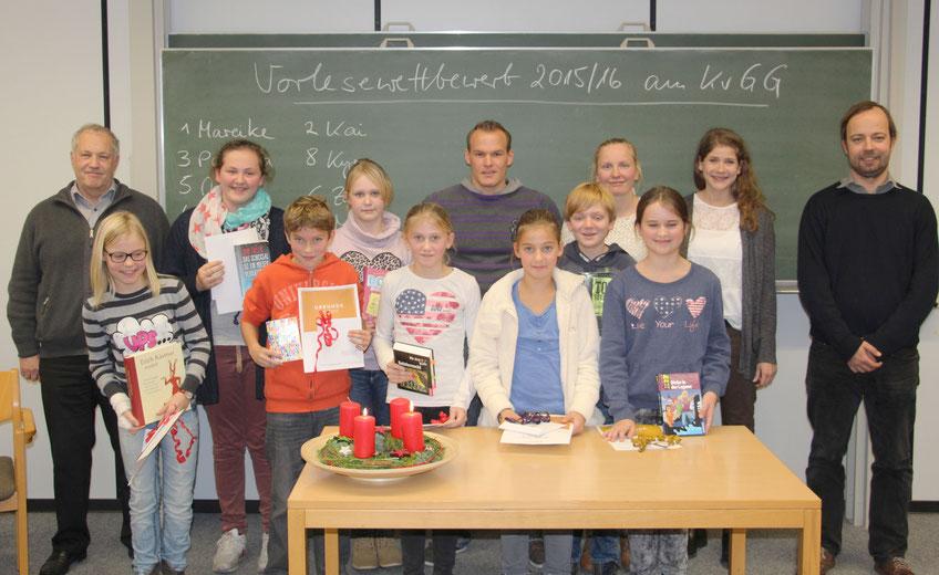 Die Teilnehmer des Vorlesewettbewerbs