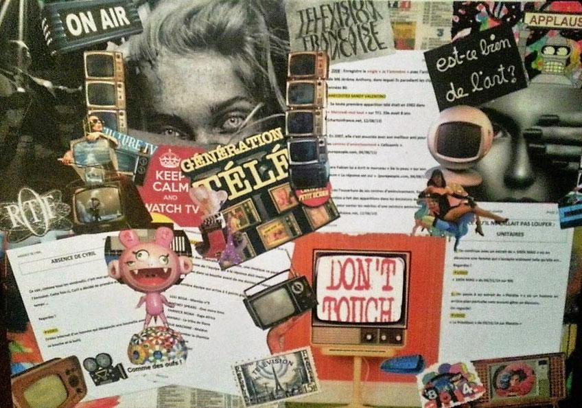 """tableau personnalisé, collage """"8ème art"""""""
