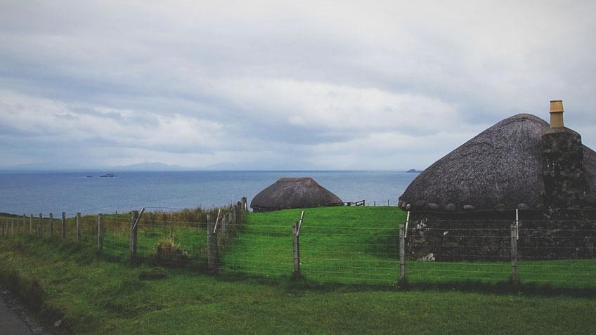 bigousteppes île de skye écosse maisons traditionnelles