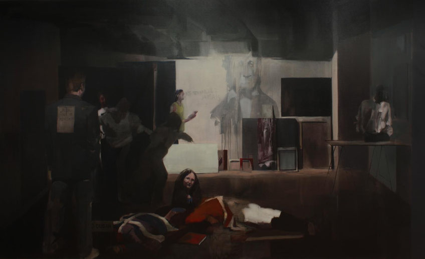 Rebelión (EL Gran Estudio). Oil on canvas. 180 x 300 cm. 2013