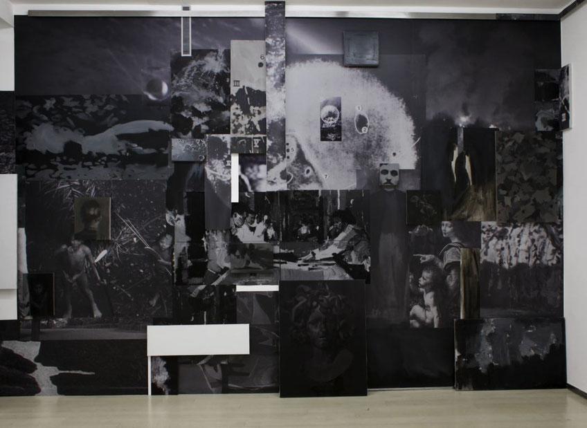Tirar del hilo hasta quedar ciego. Installation view at JosédelaFuente gallery. 2017