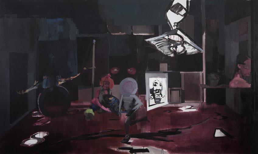Imaginación (El Gran Estudio). Oil on linen. 180 x 300 cm. 2016