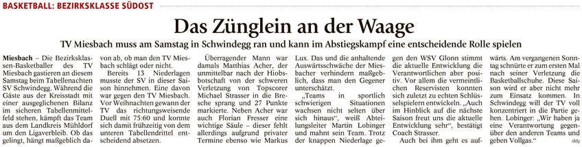 Artikel im Miesbacher Merkur am 18.3.2017 - Zum Vergrößern klicken
