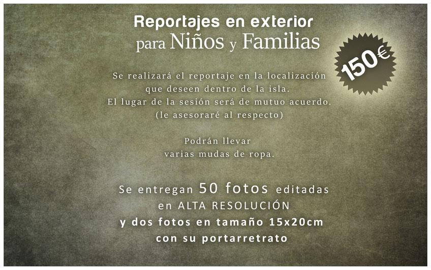 PRECIOS ESTUDIO FOTOGRÁFICO EN TENERIFE