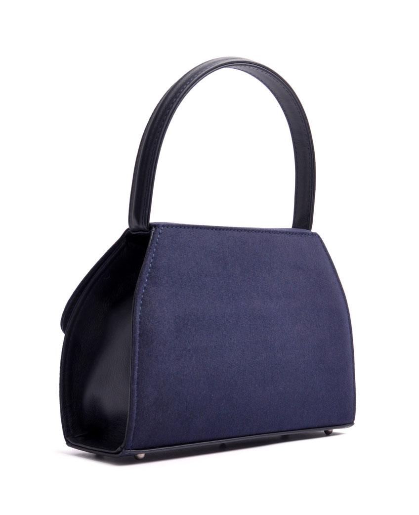 Dirndltasche  Henkeltasche EMMA blau mit Schmuckfiligran OSTWALD Traditional Craft