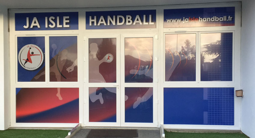 La nouvelle décoration du local de la JA Isle Handball