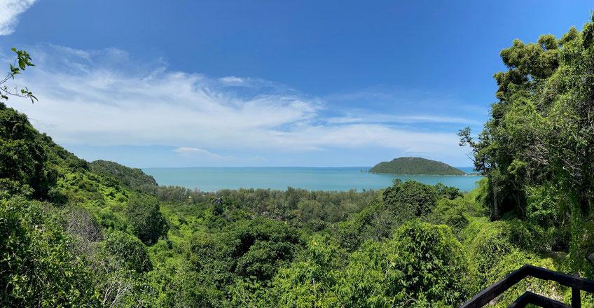 Die Aussicht über die Bucht von Phra Nayok