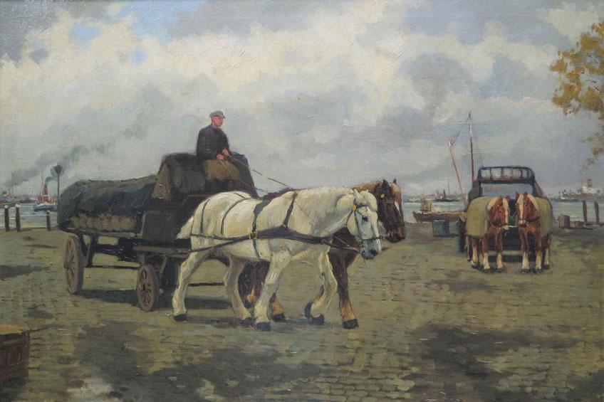 """te_koop_aangeboden_een_stads_en_havengezicht_van_oud_rotterdam_""""terwenakker""""_van_de_kunstschilder_gijsbertus_johannes_van_overbeek_1882-1947"""