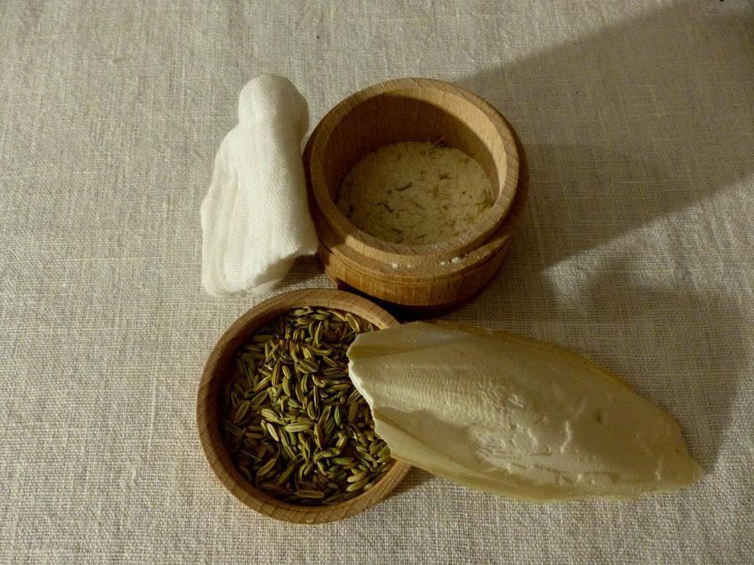 Fig. 2 Poudre d'os de seiche