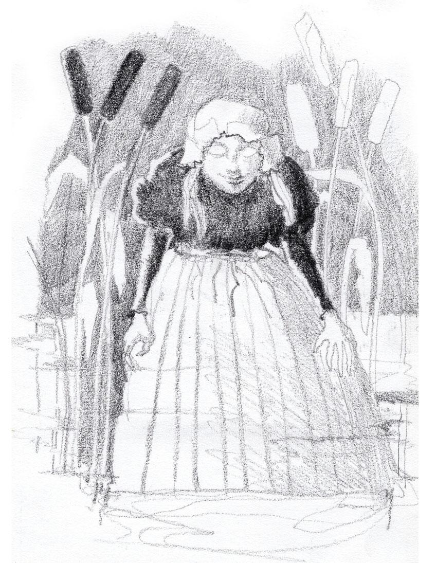 """Illustration zu """"Der Knabe im Moor"""" Annette von Droste-Hülshoff © Caroline Ronnefeldt"""