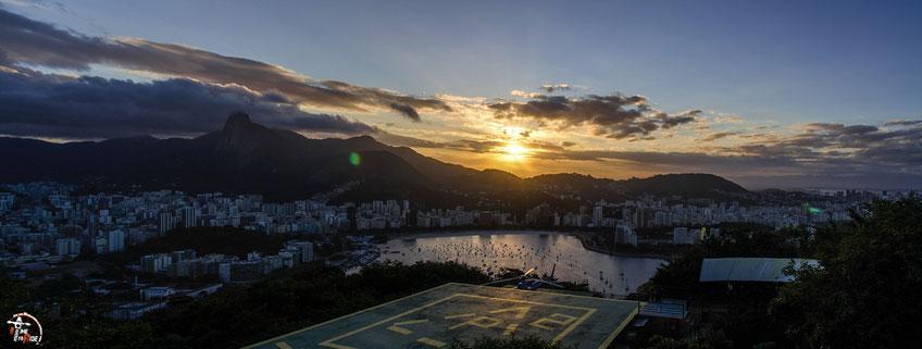Brasilien - Südamerika - Motorrad - Weltreise - Rio de Janeiro - Blick vom welt-berühmten Zuckerhut zum Sonnenuntergang