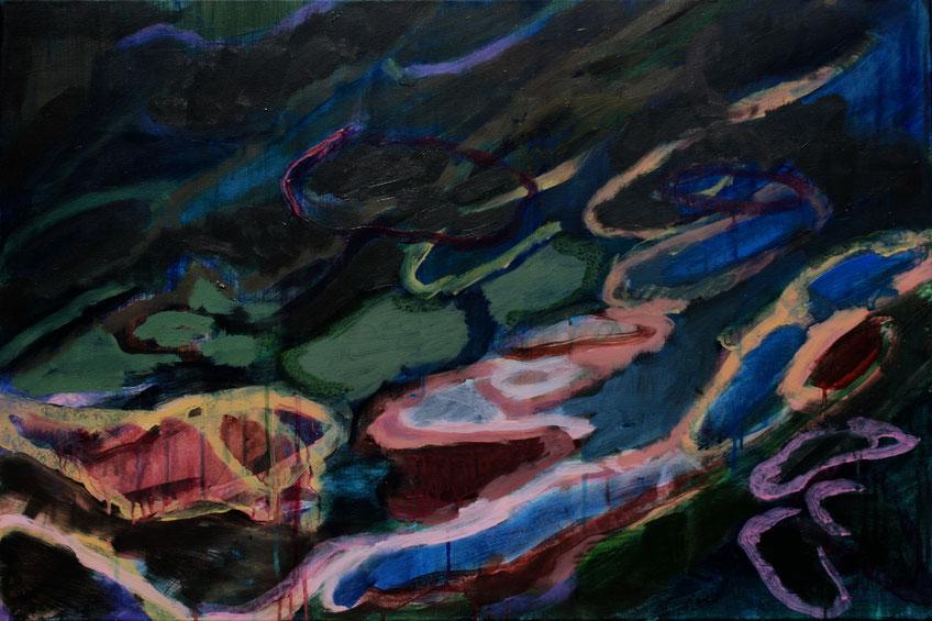 Eau II, 2019, Acryl auf Leinwand, 60x90
