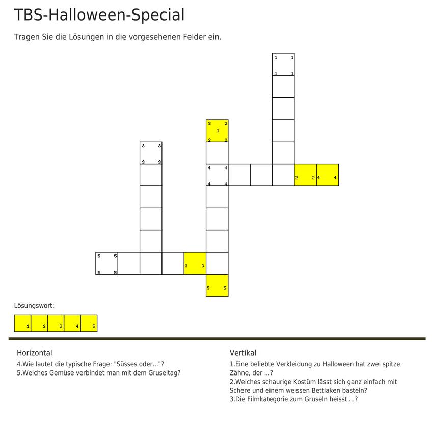 Gewinnen Sie jetzt einen Kinogutschein mit unserem TBS Halloween Rätsel