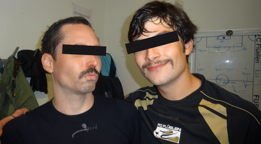 "Die ""Mustache Connection"" des FCF: T. S. aus F. und T. A. aus A."