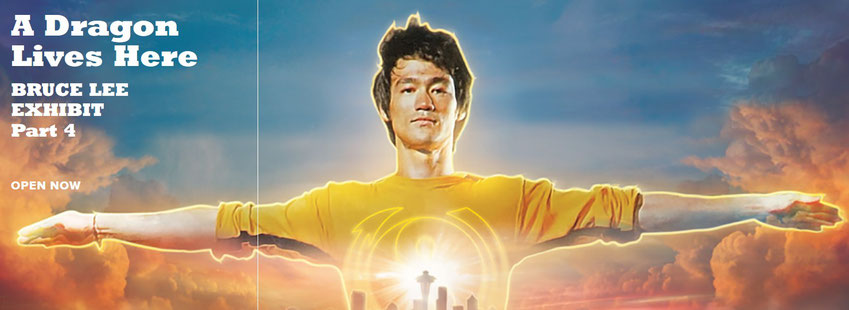 Auf dem Bild ist das Titelbild des vierten Teils der Bruce Lee-Ausstellungsreihe zu sehen.