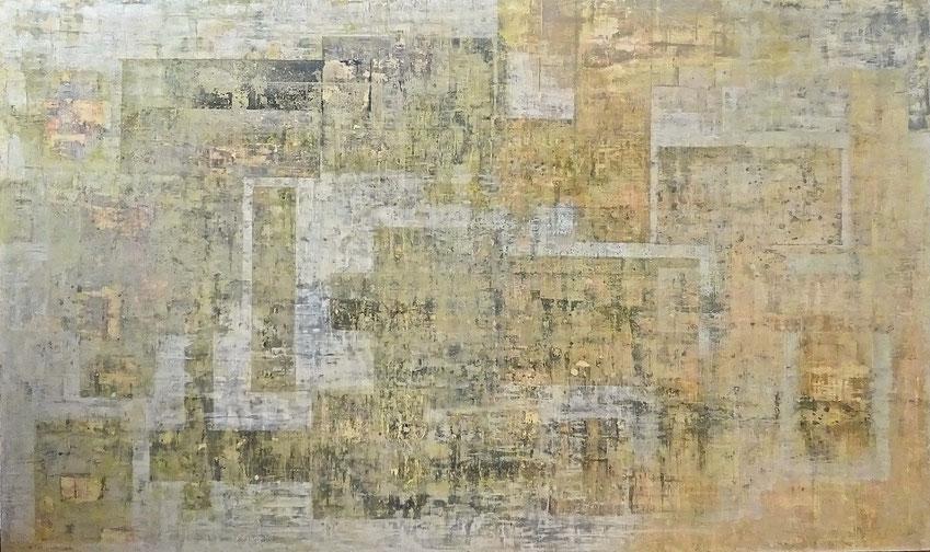 """ Polluted City "" - Acrylic on wood - 150W x 90H x 2cm"