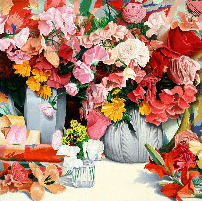 Blumen & Seide_Öl auf Leinand_David Norman